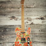 2019 Lay's orange and teal paisley T-Caster
